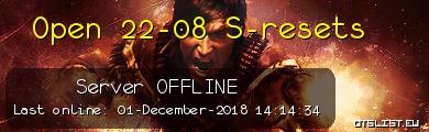 Open 22-08 S-resets