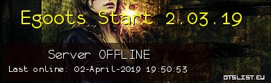 Egoots Start 2.03.19